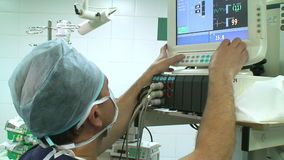 Anaesthesiologist in operation room stock video footage