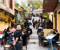 Anafiotika, Πλάκα, Αθήνα, το Μάρτιο του 2016 Στοκ φωτογραφίες με δικαίωμα ελεύθερης χρήσης