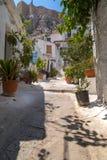 Anafiotika, Athènes, Grèce Photo libre de droits
