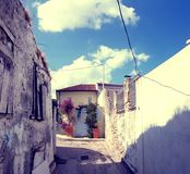 Anafiotika neighborhood, Athens, Greece Royalty Free Stock Photo