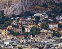 Anafiotika and Plaka, on the foot of Acropolis, Athens Stock Photos