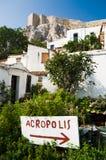 anafiotika wioska Fotografia Royalty Free