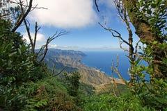从Anaga山的看法 库存照片