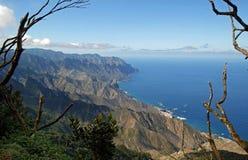 从Anaga山的看法 库存图片
