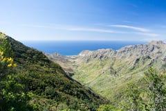 Anaga的山 库存图片