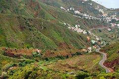 Anaga berg i Tenerife Arkivbild