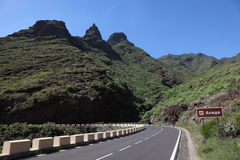 Anaga Berge, Tenerife Stockbild