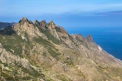 Anaga góry, Tenerife, Hiszpania Obrazy Royalty Free