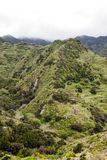 Anaga Mountains. Located on the Canary Island of Tenerife on a cloudy day. It is a vertical image Royalty Free Stock Photos
