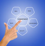A anagement diagram Stock Images