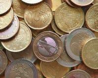 anaglyph 3D beeld van Euro muntstukken, Europese Unie Royalty-vrije Stock Foto
