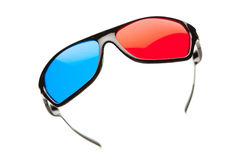 Anaglyph 3d glasses Stock Photo