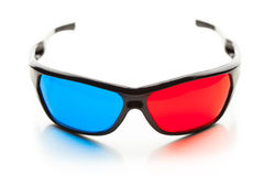 Anaglyph 3d glasses Stock Images