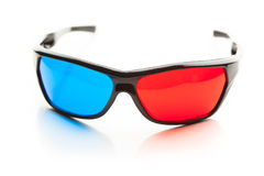 Anaglyph 3d glasses Stock Photography