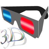 Anaglyph 3D glasses Royalty Free Stock Images