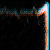 Anaglyph glitch effect hologram Royalty Free Stock Photography