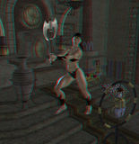 This is an anaglyph image / stereo rendering of a Stock Photography
