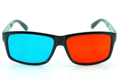 Red and blue 3-D glasses Stock Photography
