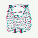 Anaglyph Vector Cat illustration with Anaglyph 3D effect . Animal background. Anaglyph Vector Cat illustration with Anaglyph 3D effect royalty free illustration
