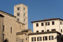 Anagni (Lazio, Italy) - Medieval cathedral Royalty Free Stock Photos