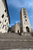 Anagni - Medieval cathedral and belfry stock image