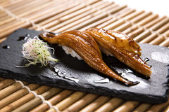 Anago (烤看见鳗鱼)寿司 库存图片