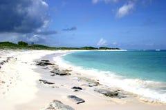 anagonda plażowa wyspy scena fotografia stock