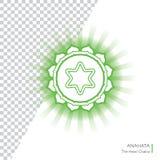 Anahata - το τέταρτο αρχικό chakra Στοκ Εικόνα