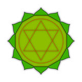Anahata - chakra καρδιών Το σύμβολο των τέταρτων chakras Illust Στοκ Φωτογραφία