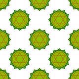 Anahata - chakra καρδιών Το σύμβολο των τέταρτων chakras Seamle Στοκ Φωτογραφία