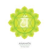 Anahata chakra - ayurvedic symbol Obraz Royalty Free