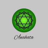 Anahata Chakra del corazón Cuarto símbolo de Chakra del ser humano Imágenes de archivo libres de regalías