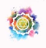 Anahata chakra. Symbol colorful illustration vector illustration