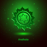 Anahata chakra. Vector illustration of Anahata chakra Stock Photography