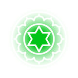 Anahata chakrasymbol Royaltyfri Bild