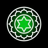 Anahata chakrasymbol Arkivfoton