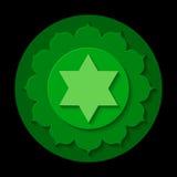 Anahata chakrasymbol Arkivbild