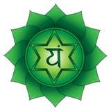 Anahata Em quarto, símbolo do chakra do coração ilustração stock