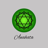 Anahata.Heart chakra. Fourth Chakra symbol of human.  Royalty Free Stock Images