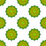 Anahata - heart chakra. The symbol of the fourth chakras. Seamle Stock Photography