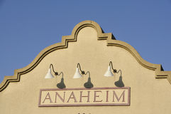 Anaheim. The old railroad station in Anaheim, CA off Atchison St Stock Image