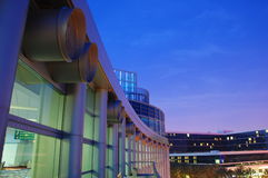 Anaheim. A view of the Anaheim Convention Center at twilight Stock Image
