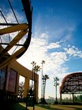 The main entrance of Angel Stadium Royalty Free Stock Photo