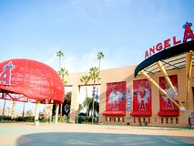 The main entrance of Angel Stadium Stock Photography