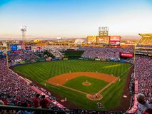 Anaheim CA USA - Angel Stadium royaltyfri foto