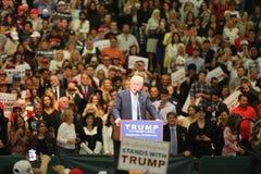 ANAHEIM CALIFÓRNIA, o 25 de maio de 2016: Os milhares de suportes, sinais da onda e mostram seu apoio para o candidato presidenci Fotos de Stock