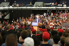 ANAHEIM CALIFORNIA, May 25, 2016: Thousands of Supporters, wave signs and show their support for Presidential Candidate Donald J. Stock Photography