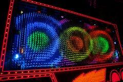 Disneyland`s Paint the Night Parade. ANAHEIM, CALIFORNIA - September 21st, 2015 - Disneyland`s Paint the Night Parade Stock Images