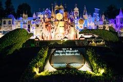 Disneyland`s It`s a Small World. ANAHEIM, CALIFORNIA - September 20th, 2015 - Disneyland`s It`s a Small World at night Stock Photography