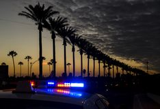 Anaheim an der Dämmerung stockfoto